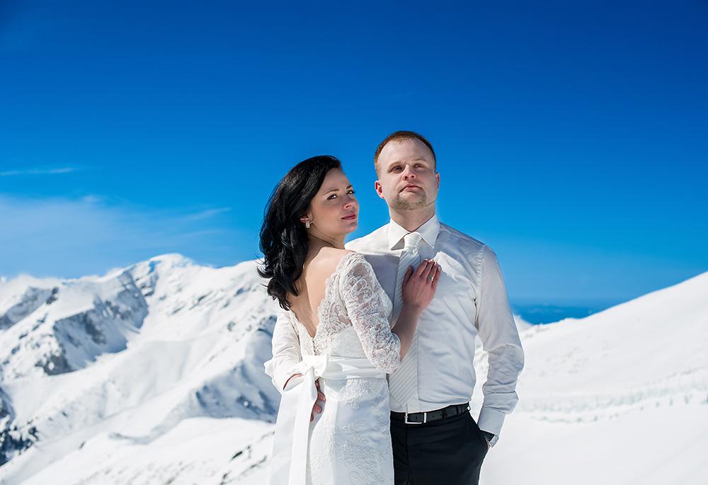 Zimowa sesja ślubna w Tatrach_1