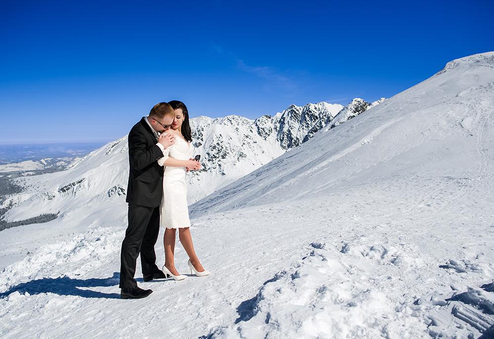 Zimowa sesja ślubna w Tatrach_3