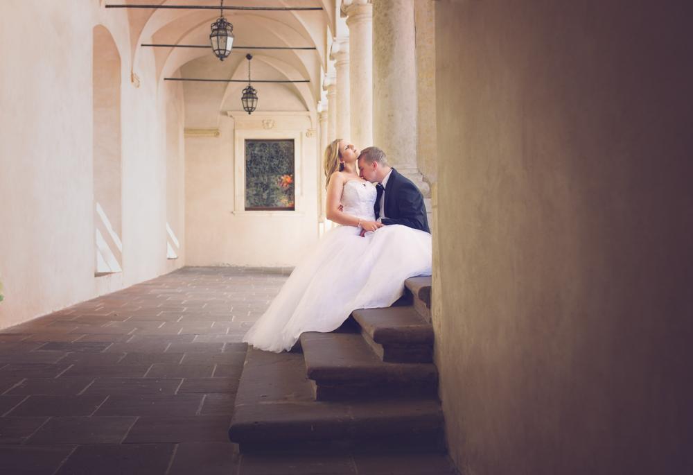 Justyna i Mateusz sesja ślubna w Baranowie-1