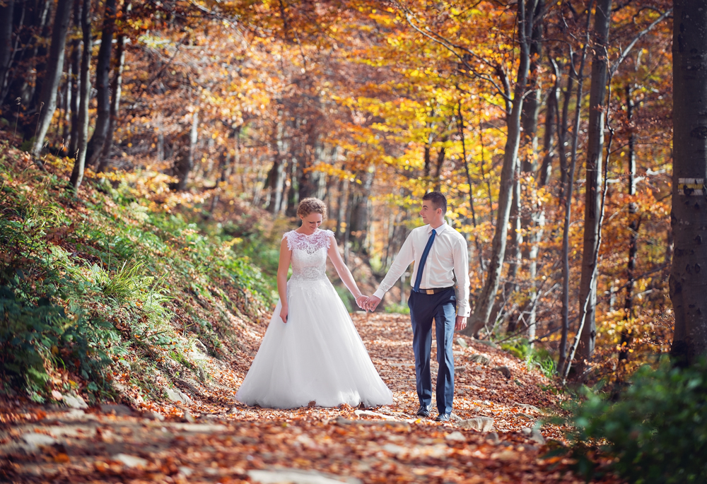 Joanna i Dawid - sesja ślubna w Bieszczadach 02