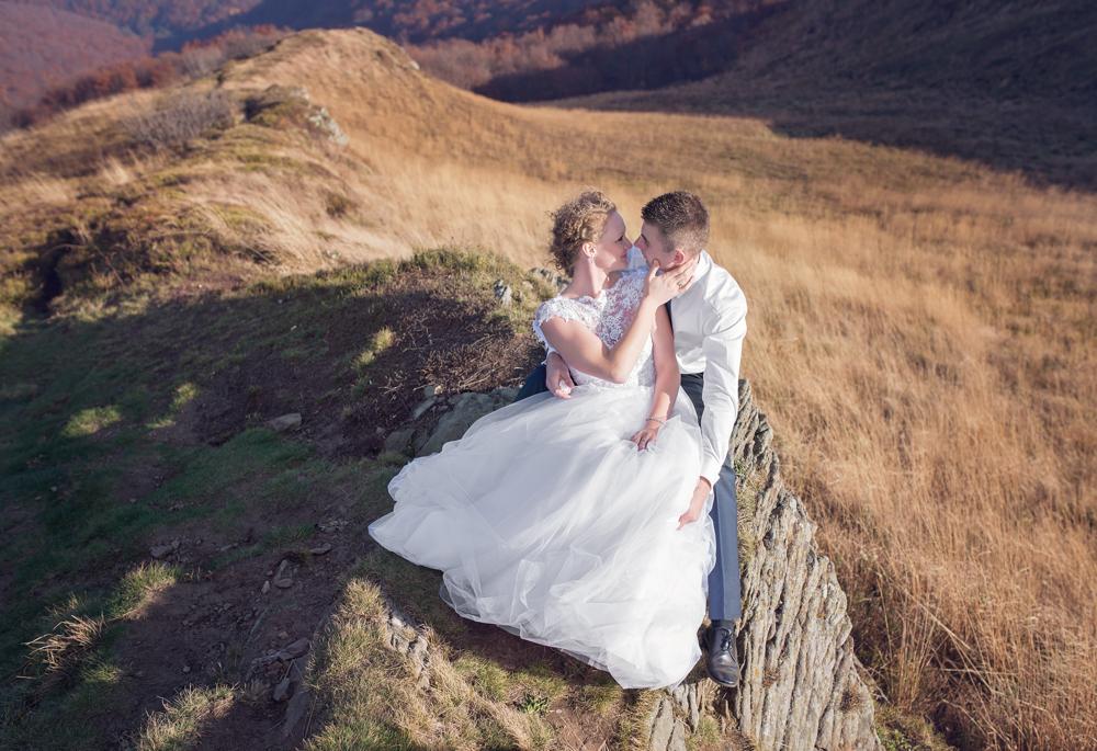 Joanna i Dawid - sesja ślubna w Bieszczadach 06