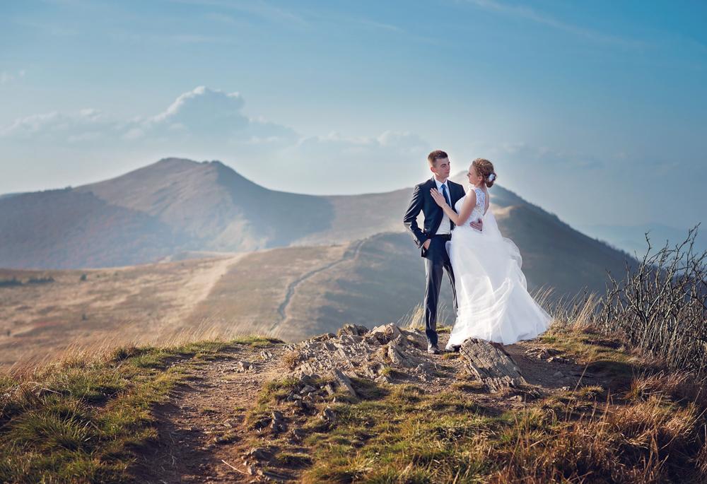 Joanna i Dawid - plener ślubny w Bieszczadach