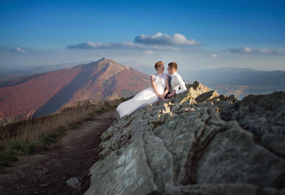Joanna i Dawid - plener ślubny w Bieszczadach 05